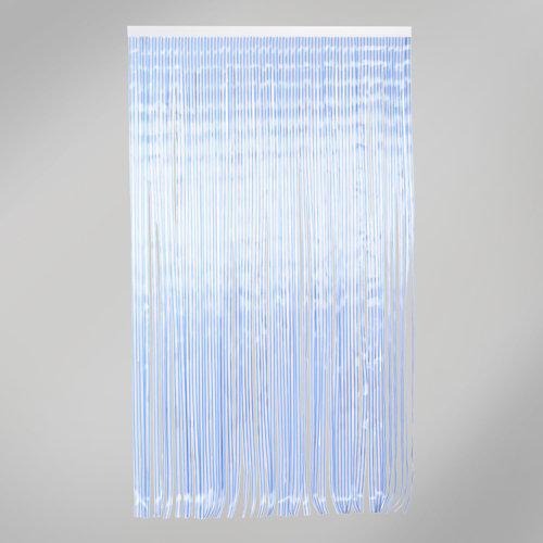 Cortina de puerta azul de 120 x 210 cm