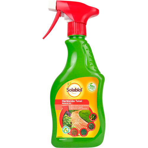 Herbicida total natural efecto visible en 6 horas y persistente hasta 8 semanas
