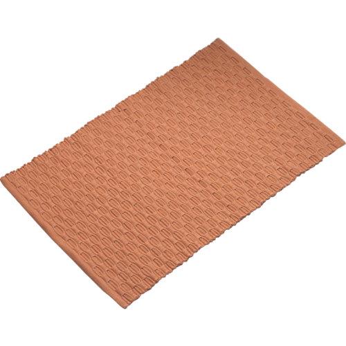 Alfombra de baño mirage rectangular salmón 45x70 cm
