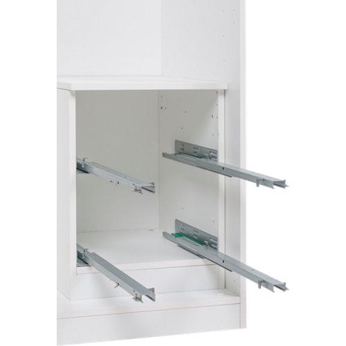 Cajonera de frente abierto con 2 cajón/es de 53x40x50 cm