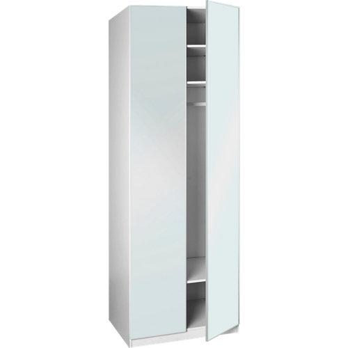 Puerta abatible armario botero espejo de 30x228 cm