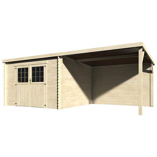 Caseta de madera eden de 610x198x301 cm y 18.54 m2