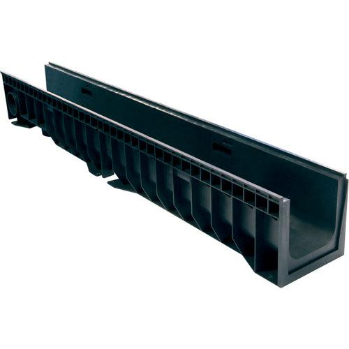 Canaleta plástica de 14x13,4 cm sin reja hydro de 1 m