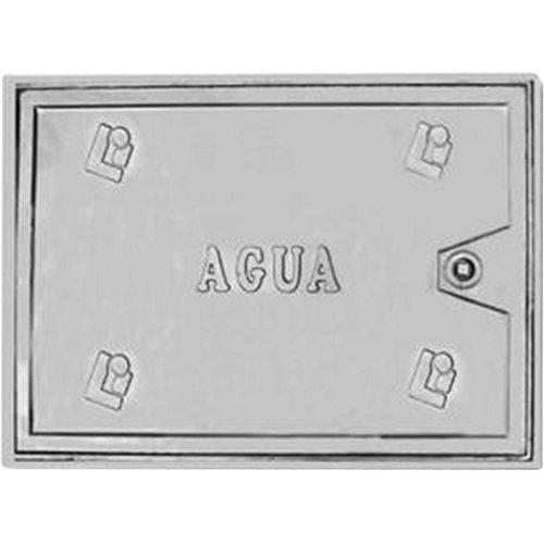Puerta de contador de aluminio con llave de 38x28 cm