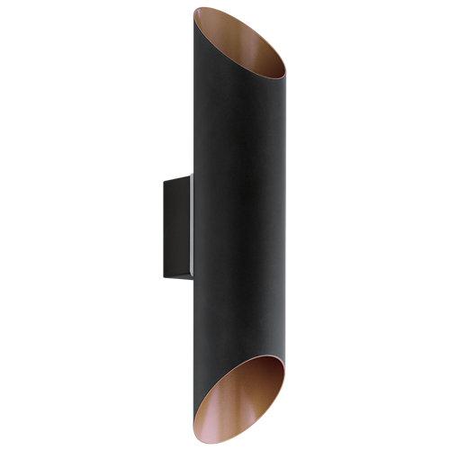 Aplique de exterior led agolada negro bronce galvanizado
