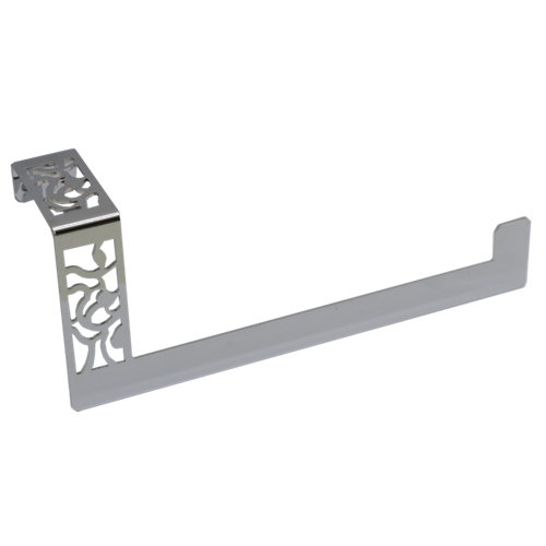 Toallero art deco gris / plata brillante 24x10 cm