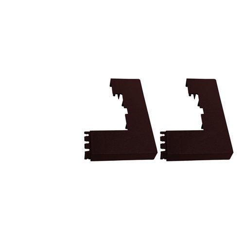 2 unidades de tapa para base de poste de panel mosaic óxido