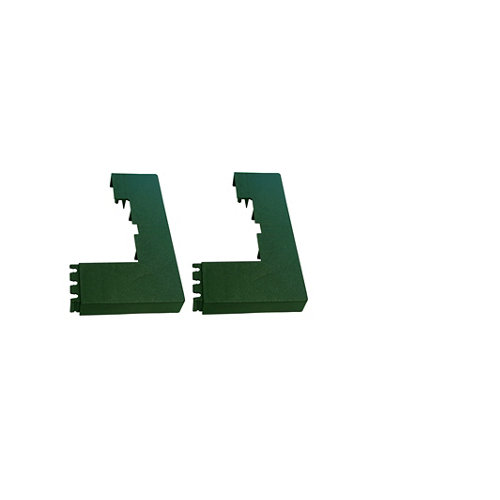2 unidades de tapa para base de poste de panel mosaic verde