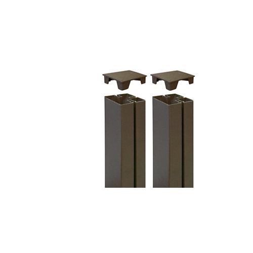 2 unidades de tapa para poste de panel mosaic óxido