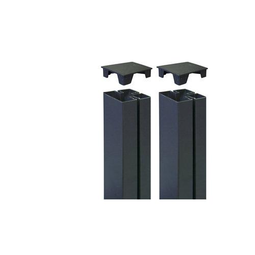 2 unidades de tapa para poste de panel mosaic antracita