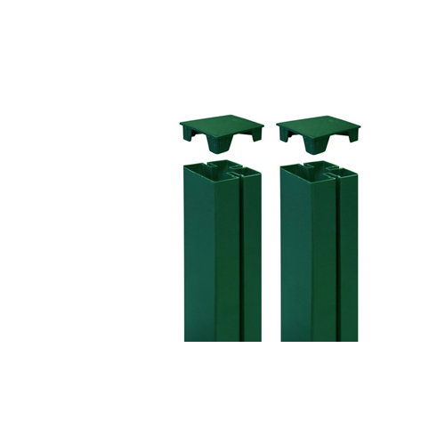 2 unidades de tapa para poste de panel mosaic verde