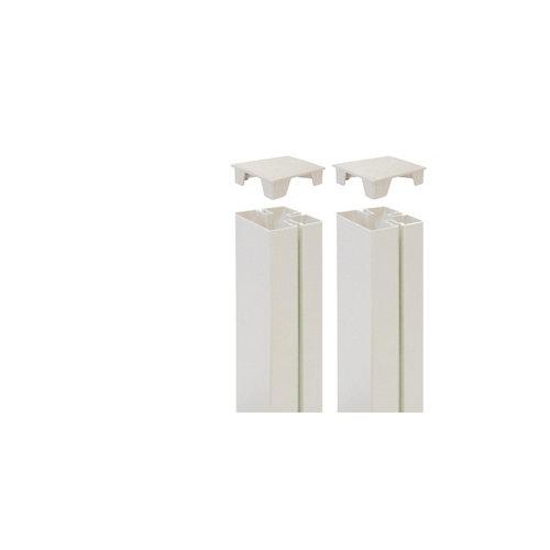 2 unidades de tapa para poste de panel mosaic blanco