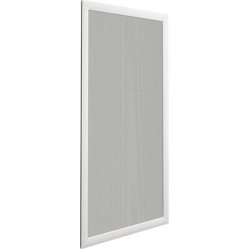 Mosquitera balconera corredera de color blanco de 90x140 cm (ancho x alto)