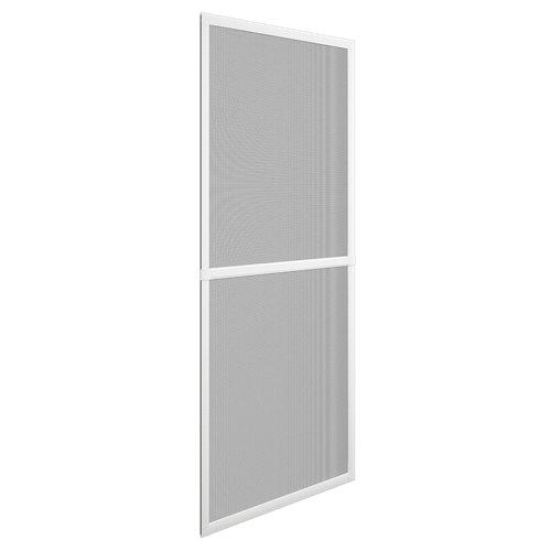 Mosquitera balconera corredera de color blanco de 70x220 cm (ancho x alto)