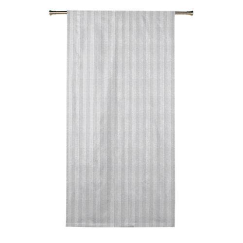 Visillo nama con motivo geométrico blanco de 270 x 200 cm