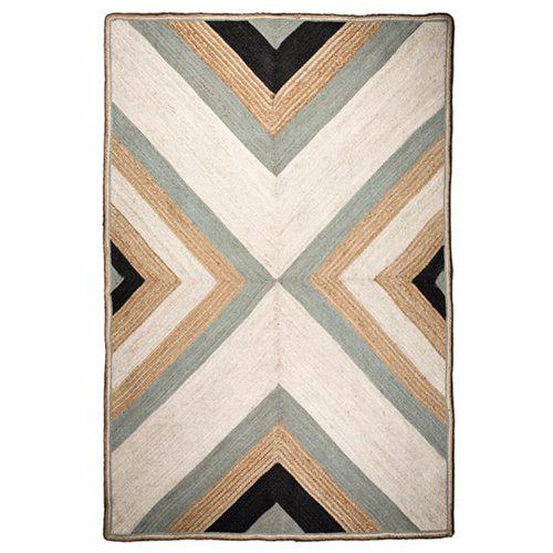 Alfombra multicolor yute yute azulejo 120 x 180cm