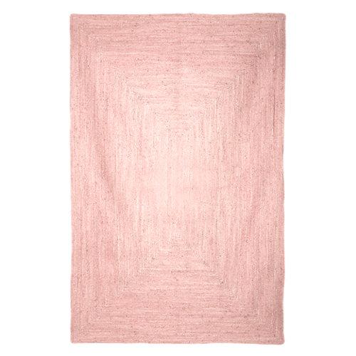 Alfombra multicolor yute alhambra rosa 160 x 230cm