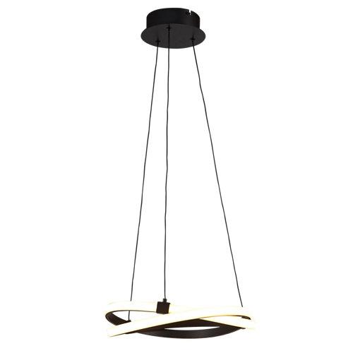 Lámpara de techo led infinity marrón 1 luz