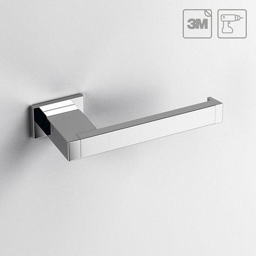 Portarollo wc kubo gris / plata brillante 15.7x2.4x6.1 cm