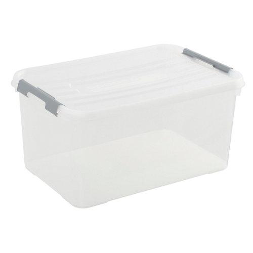 Caja de plástico spaceo, dimensiones: 40x60x29cm y 50 litros