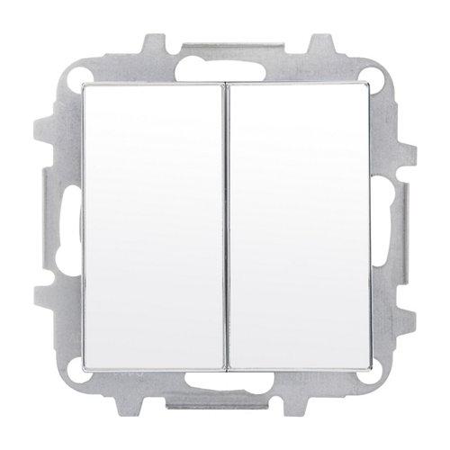 Interruptor doble niessen sky cristal blanco