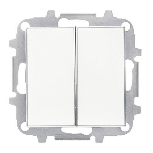 Interruptor doble niessen sky blanco
