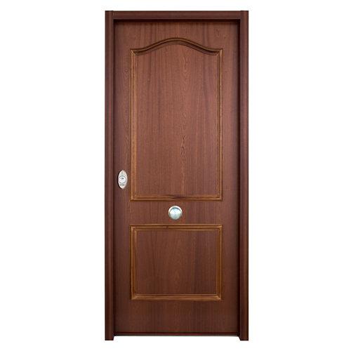Puerta de entrada acorazada serie v provenzal derecha sapelli/blanco de 206x89cm