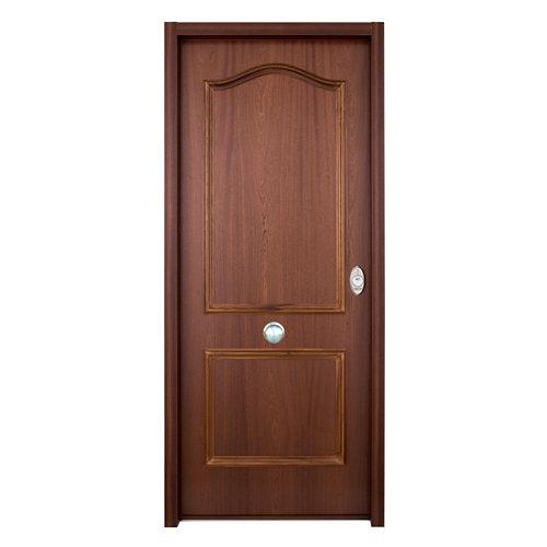 Puerta de entrada acorazada serie v provenzal izquierda sapelli/blanco 206x89cm