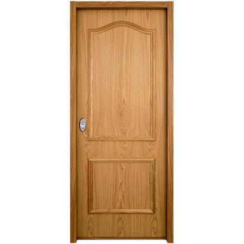 Puerta de entrada acorazada serie v provenzal derecha roble/blanco de 89x206 cm