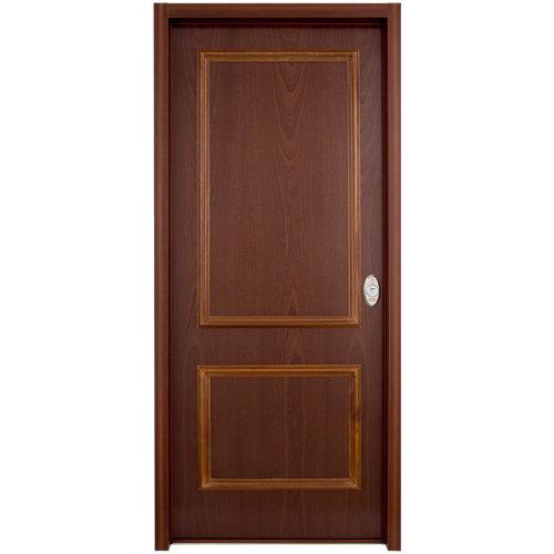 Puerta de entrada acorazada serie v 2 cuadros izquierda sapelli/blanco 89x206 cm