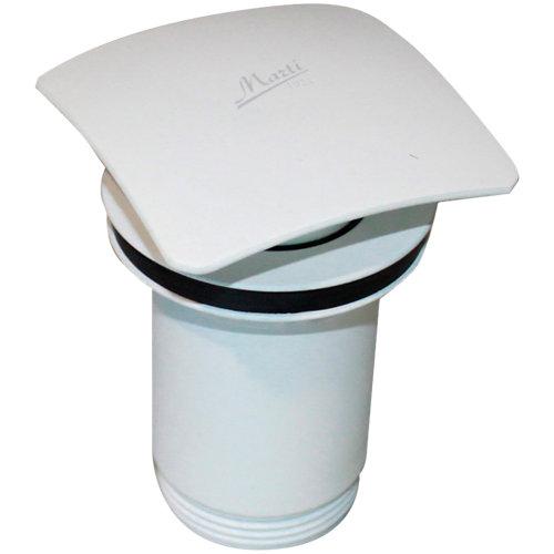 Válvula desagüe lavabo cuadrada clic-clac blanco