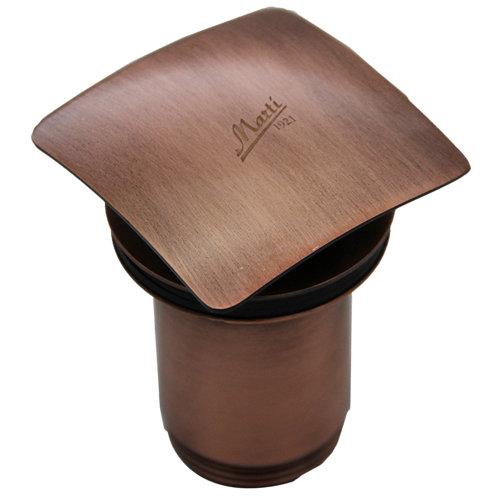 Válvula desagüe lavabo cuadrada clic-clac cobre