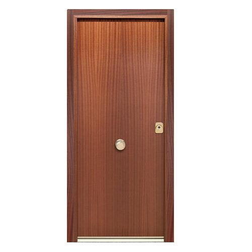 Puerta de entrada acorazada 400 lisa izquierda sapelly/sapelly de 90.3x208 cm