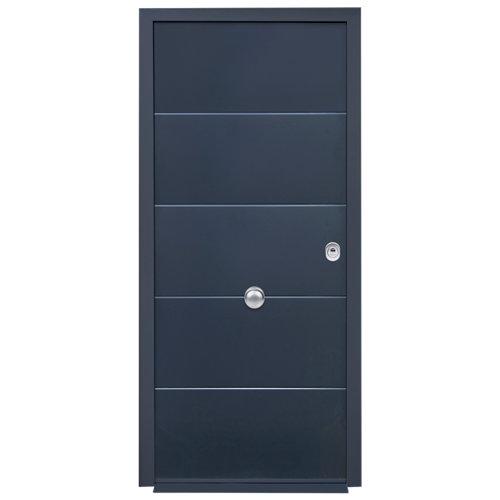 Puerta de entrada acorazada 3101 lucerna izquierda gris/blanco de 90x209 cm