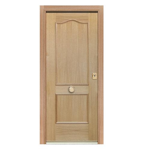 Puerta de entrada acorazada provenzal 300 izquierda roble/roble de 90.3x208 cm