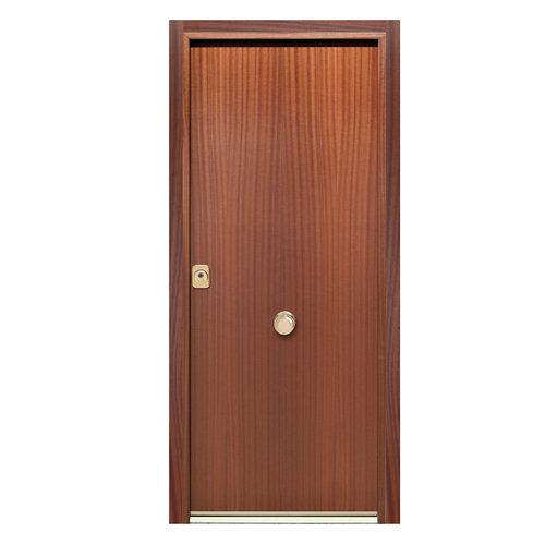 Puerta de entrada acorazada 300 lisa derecha sapelly/blanco de 90.3x208 cm