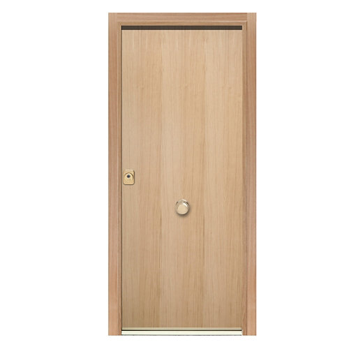 Puerta de entrada acorazada 400 lisa derecha roble/blanco de 90.3x208 cm