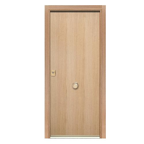 Puerta de entrada acorazada 300 lisa derecha roble/roble de 90.3x208 cm