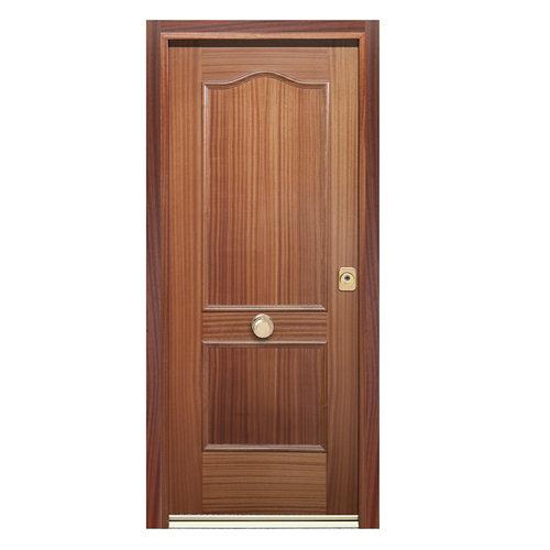 Puerta de entrada acorazada 400 provenzal izquierda sapelly/blanco de 90.3x208cm