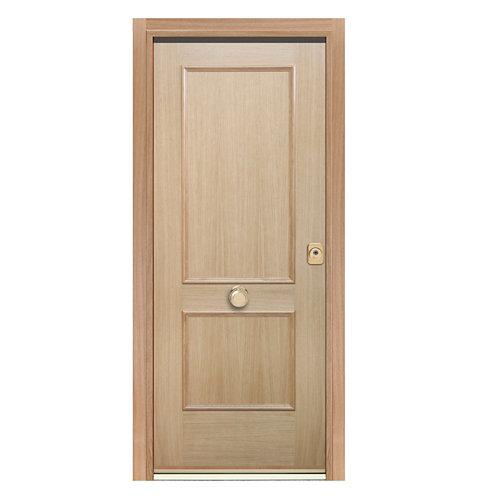 Puerta de entrada acorazada 300 2 cuadros izquierda roble/roble de 90.3x208 cm