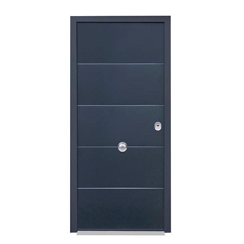 Puerta de entrada acorazada 3101 izquierda gris/blanco de 90x209 cm
