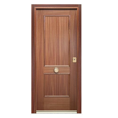 Puerta de entrada acorazada 300 2 cuadros izquierda sapelly/blanco de 90.3x208cm