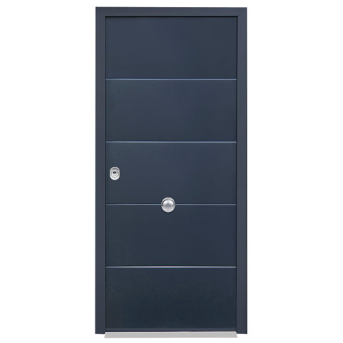 Puerta de entrada acorazada 3101 lucerna derecha gris/blanco de 90x209 cm