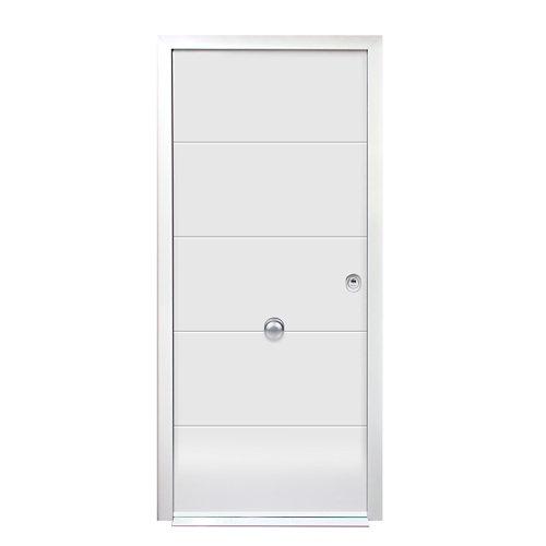 Puerta de entrada acorazada 3101 lucerna izquierda blanco/blanco de 90x209 cm