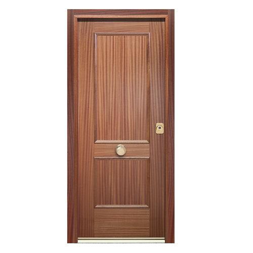 Puerta de entrada acorazada 400 2 cuadros izquierda sapelly/sapelly 90.3x208 cm