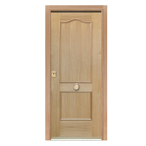 Puerta de entrada acorazada 300 provenzal derecha roble/blanco de 90.3x208 cm