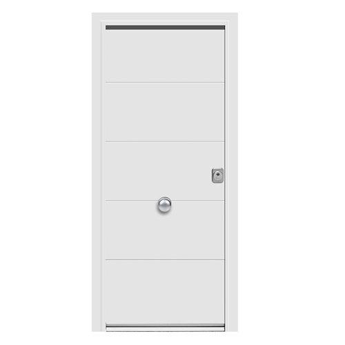 Puerta de entrada acorazada 300 izquierda blanco/blanco de 90.3x208 cm
