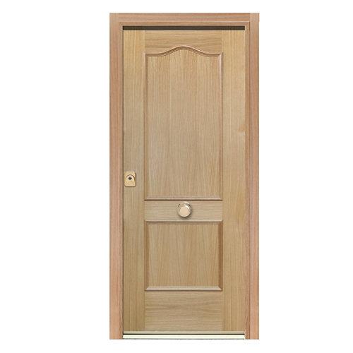 Puerta de entrada acorazada 400 provenzal derecha roble/blanco de 90.3x208 cm