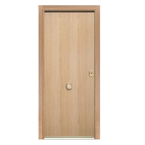 Puerta de entrada acorazada 300 lucerna izquierda roble/blanco de 90.3x208 cm