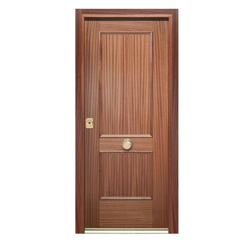 Puerta de entrada acorazada 400 2 cuadros derecha sapelly/sapelly de 90.3x208 cm